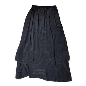 Flax layered Maxi Skirt Small